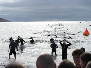 triathlon swimming race