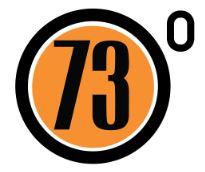 73 Degrees Bicycle shop logo